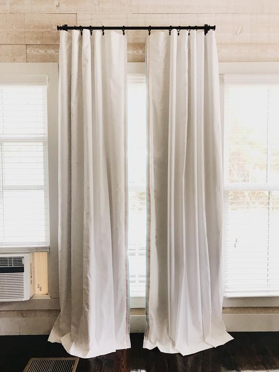Blackout Nursery Curtains, Blackout Drapes, Blackout Curtain In Solid Cotton True Blackout Curtain Panels (View 3 of 50)