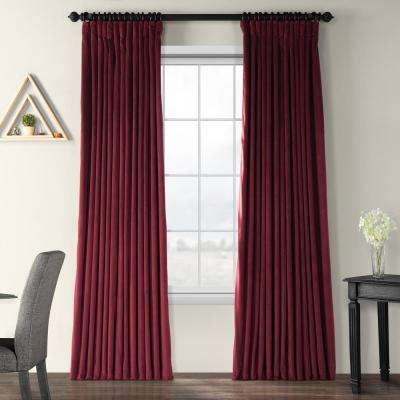Blackout Signature Burgundy Doublewide Blackout Velvet Curtain – 100 In. W X 108 In (View 7 of 50)