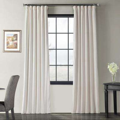Blackout Signature Ivory Blackout Velvet Curtain – 50 In. W X 96 In (View 9 of 37)