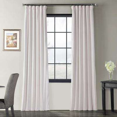 Blackout Signature Off White Blackout Velvet Curtain – 50 In. W X 96 In (View 8 of 50)