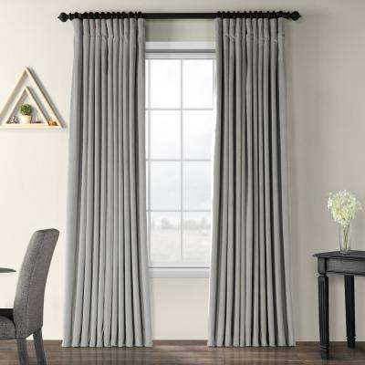 Blackout Signature Silver Grey Doublewide Blackout Velvet Curtain – 100 In. W X 108 In (View 22 of 50)