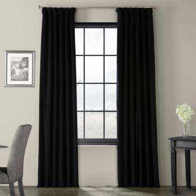 Blackout Signature Warm Black Blackout Velvet Curtain – 50 In. W X 96 In (#10 of 50)