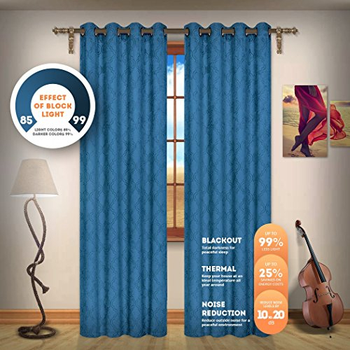Blackout Weave Embossed Curtain Panels | Block Light And Noise | Best Sleep  Of Your Life| Thermal Weaved Room Darkening Fabric Durable Grommets With Regard To Embossed Thermal Weaved Blackout Grommet Drapery Curtains (View 10 of 42)