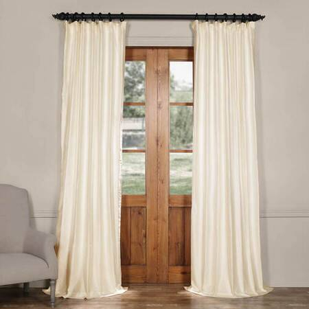 Blanc White Cotton Silk Curtain – Manchester Stripe Curtain With Regard To Montpellier Striped Linen Sheer Curtains (#5 of 50)