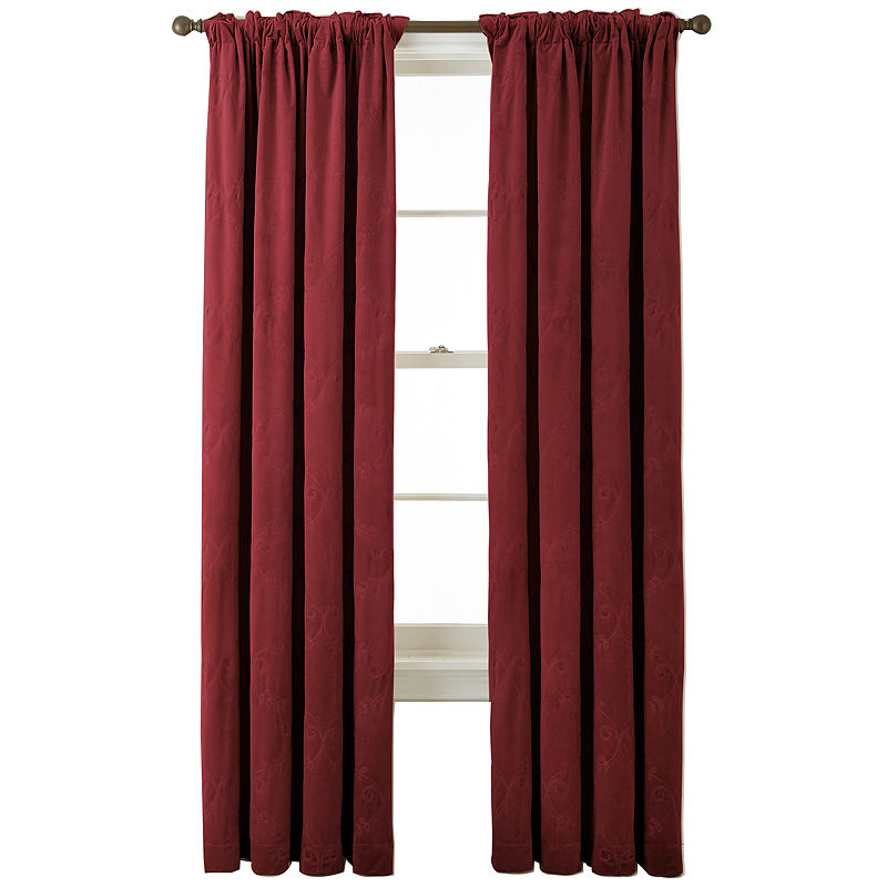 Bliss Velvet Embroidered Back Tab Curtain Panel | Products Intended For Tacoma Double Blackout Grommet Curtain Panels (View 7 of 48)