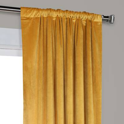 Bloomsbury Market Hovey Jacquard Floral/flower Thermal Rod Throughout Heritage Plush Velvet Single Curtain Panels (View 7 of 50)