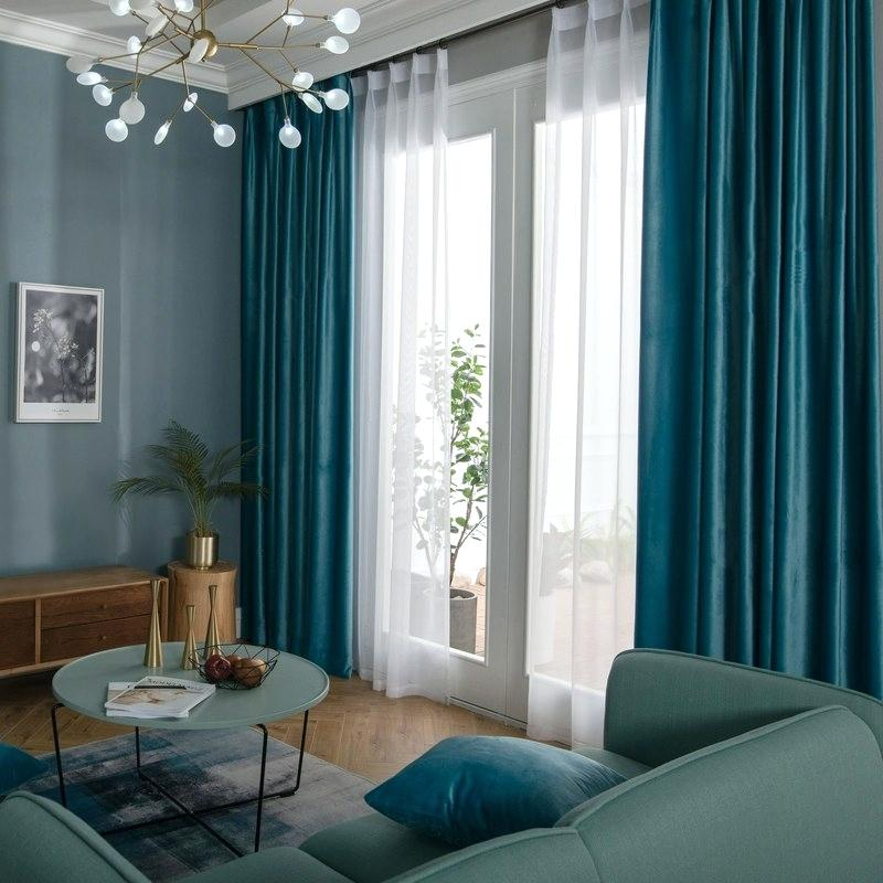 Blue Curtain Sheer Panels And Scarf Teal Velvet Background Pertaining To Linen Button Window Curtains Single Panel (#8 of 40)