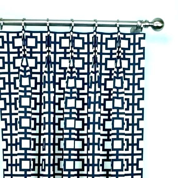 Blue Geometric Curtains – Jameso (View 6 of 46)