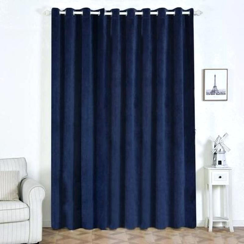 Blue Heritage Plush Velvet Curtain Blackout Curtains N Throughout Heritage Plush Velvet Curtains (View 2 of 50)