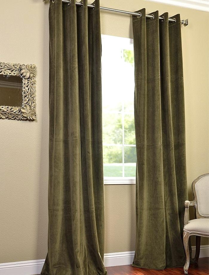 Blue Heritage Plush Velvet Curtain Blackout Curtains N With Heritage Plush Velvet Curtains (View 3 of 50)