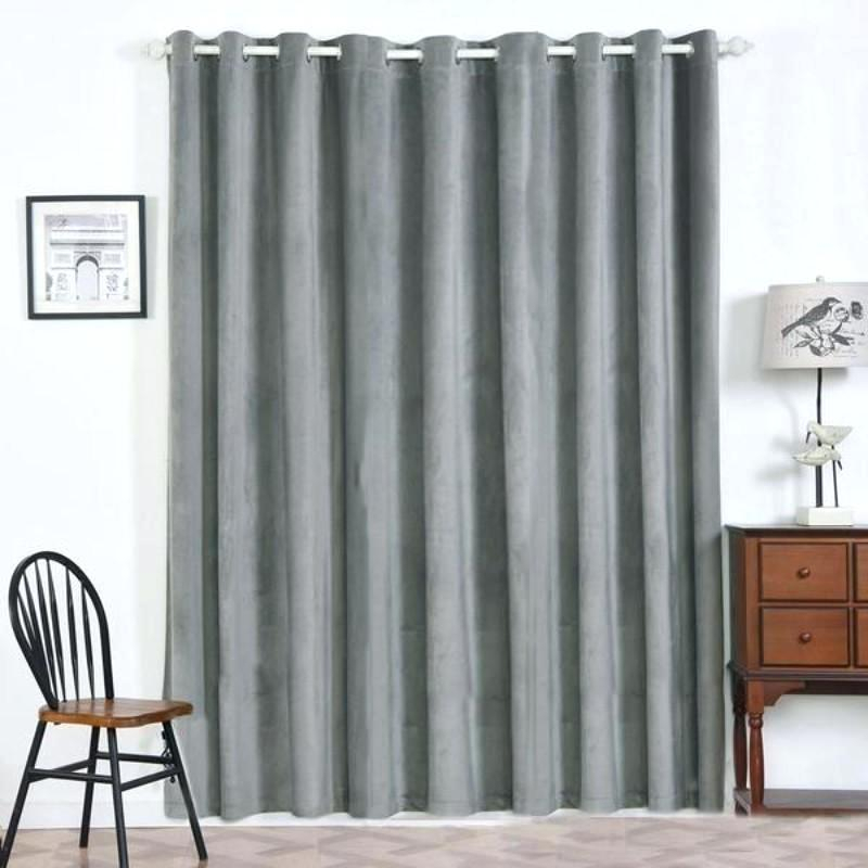 Blue Heritage Plush Velvet Curtain Blackout Curtains N With Regard To Heritage Plush Velvet Curtains (View 4 of 50)