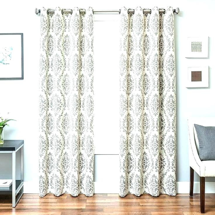 Blue Ikat Window Panels White Curtain Panel Inch Bronze Inside Ikat Blue Printed Cotton Curtain Panels (#9 of 50)