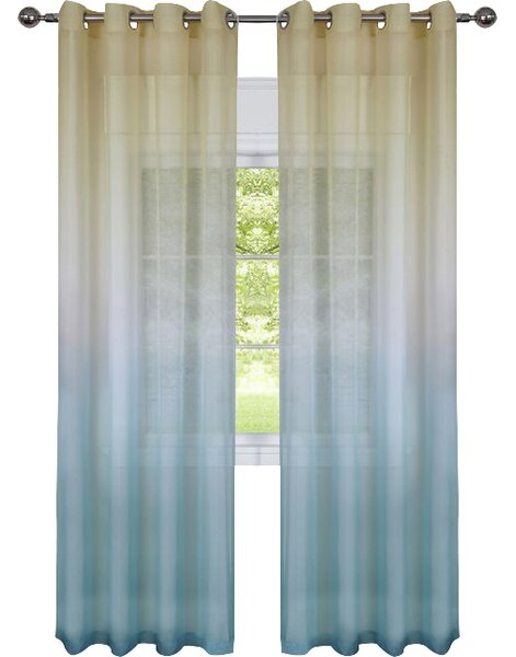 Blue Ombre Curtains | Wayfair For Ombre Embroidery Curtain Panels (View 16 of 50)