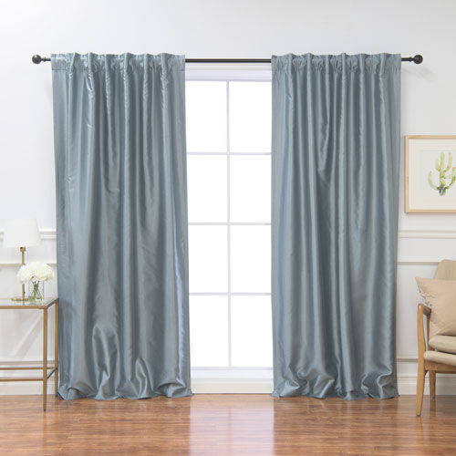 Blue Panel Pair Curtains And Drapes | Bellacor Pertaining To Julia Striped Room Darkening Window Curtain Panel Pairs (#4 of 37)