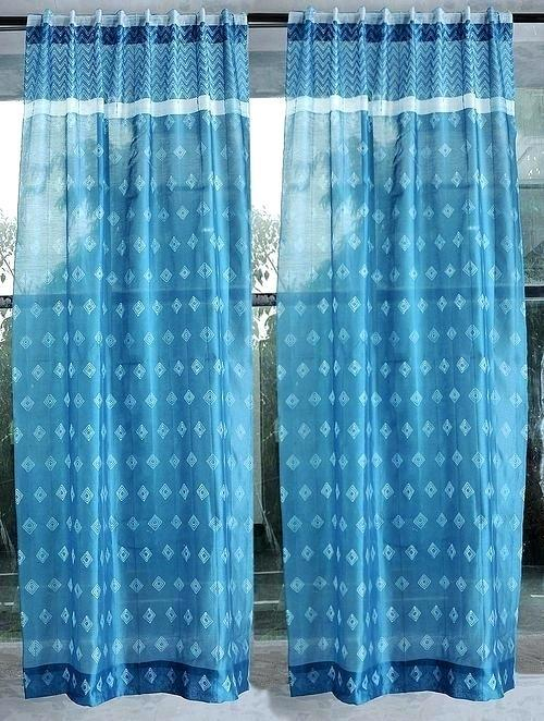 Blue Silk Drapes – Cursodeporteiroonline (View 5 of 50)