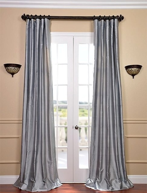 Blue Silk Drapes – Cursodeporteiroonline (View 11 of 50)