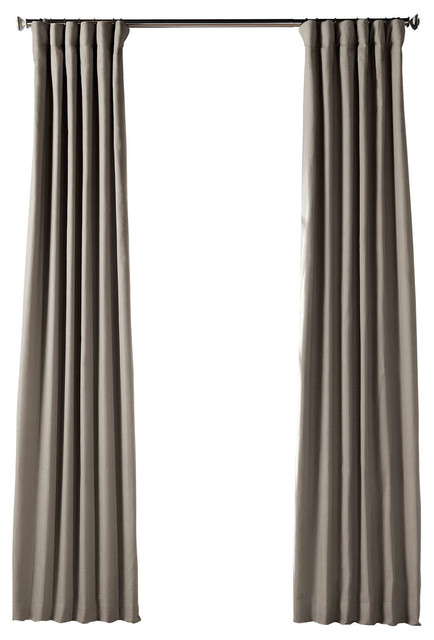 Bluff Gray Bark Weave Solid Cotton Curtain Single Panel, 50W X 84L Throughout Solid Country Cotton Linen Weave Curtain Panels (#3 of 50)