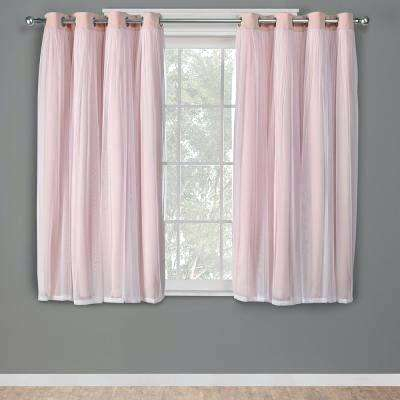 Blush Colored Curtains All Seasons Waterfall Window Valance In All Seasons Blackout Window Curtains (View 13 of 48)