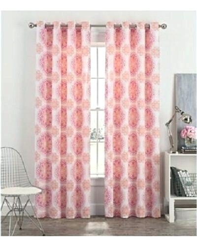 Blush Curtain Panels – Suresidencia Intended For Ocean Striped Window Curtain Panel Pairs With Grommet Top (#6 of 41)