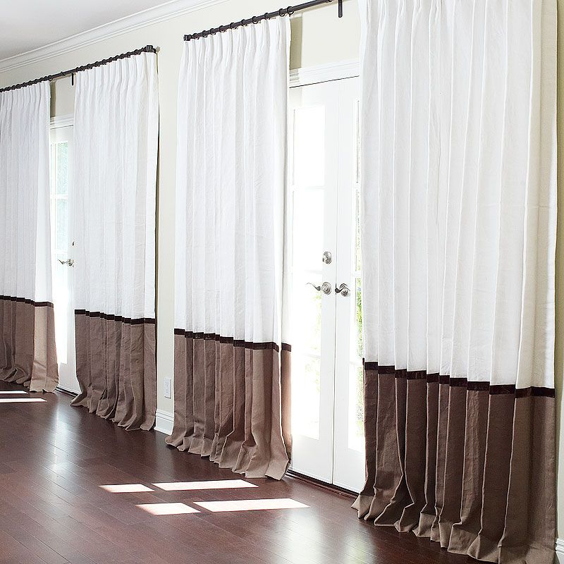 Bordered Linen + Linen Custom Drapes | Drapes | Drapes Within The Gray Barn Kind Koala Curtain Panel Pairs (View 16 of 50)