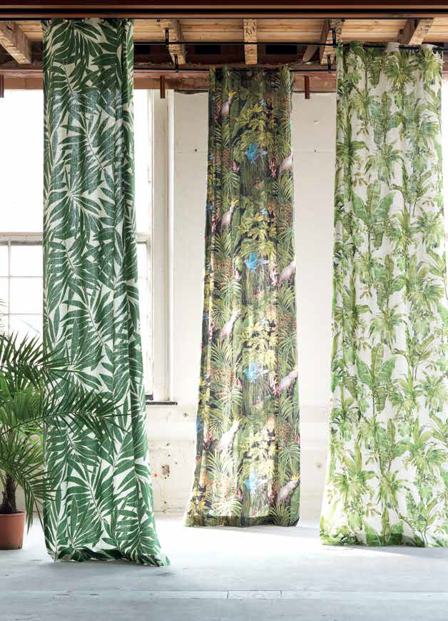 Botanical Fabrics: Liven Up Your Home » Tm Interiors With Ikat Blue Printed Cotton Curtain Panels (#10 of 50)