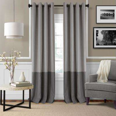 Braiden Color Block Blackout Window Curtain Throughout Elrene Mia Jacquard Blackout Curtain Panels (View 11 of 37)