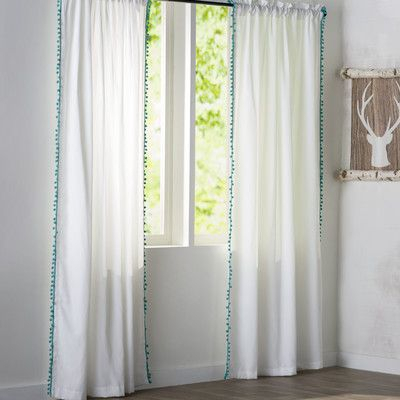 Brannon Solid Sheer Rod Pocket Single Curtain Panel | New With Regard To Light Filtering Sheer Single Curtain Panels (View 24 of 38)