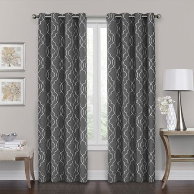 "Brent Grommet 100% Blackout 84"" Window Curtain Panel In In Bethany Sheer Overlay Blackout Window Curtains (View 5 of 50)"
