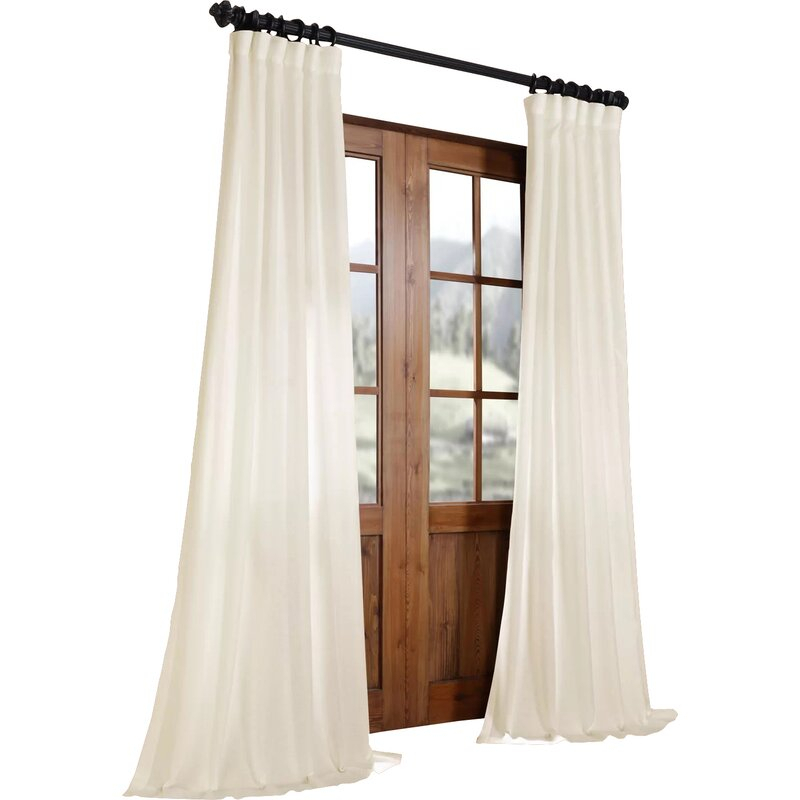 Brittnie Faux Linen Solid Semi Sheer Rod Pocket Single Curtain Panel Pertaining To Ombre Faux Linen Semi Sheer Curtains (#13 of 50)