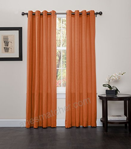 Broadway Grommet Top Curtains Set Of 2 Panels Rust T0Wrlgdl Within Raw Silk Thermal Insulated Grommet Top Curtain Panel Pairs (#12 of 46)