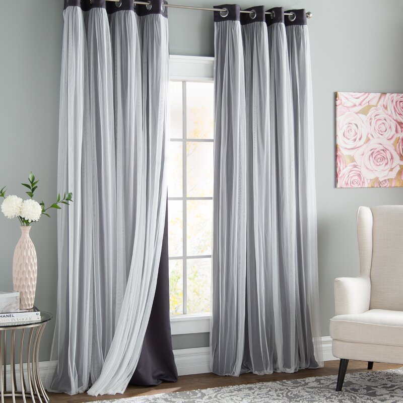 Brockham Solid Blackout Grommet Curtain Panels Throughout Blackout Grommet Curtain Panels (View 27 of 40)
