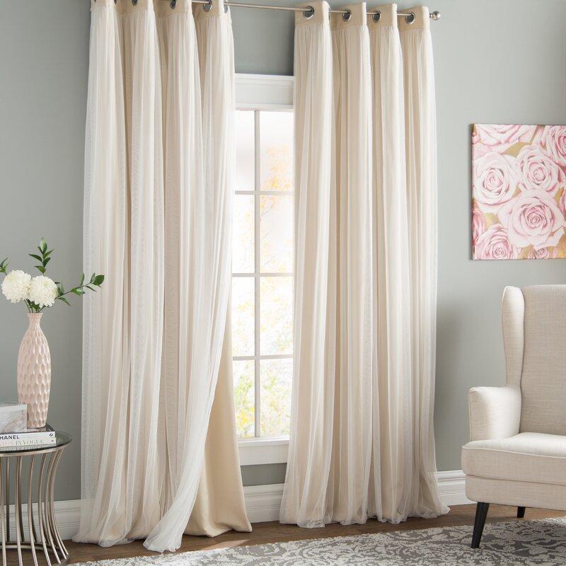 Brockham Solid Blackout Thermal Grommet Curtain Panels With Regard To Grommet Curtain Panels (View 9 of 39)