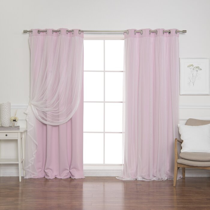 Brockham Solid Blackout Thermal Grommet Curtain Panels Within Solid Cotton True Blackout Curtain Panels (View 27 of 50)