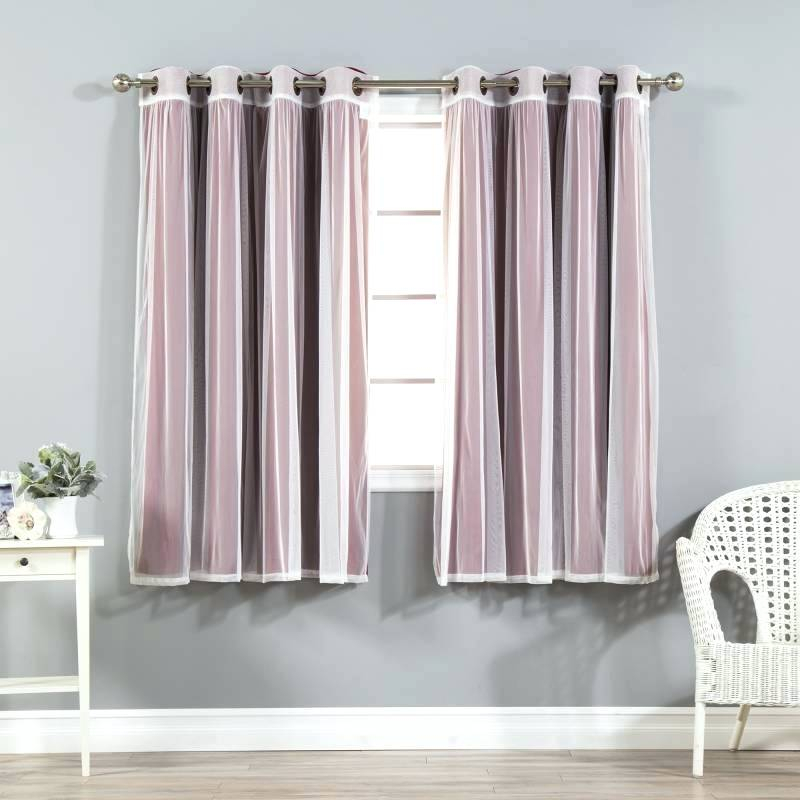 Bronze Grommet Curtains Antique Mix And Match Gathered Tulle Inside Mix & Match Blackout Tulle Lace Bronze Grommet Curtain Panel Sets (View 28 of 50)