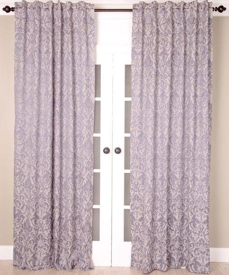Bryton Paisley Synthetic Blackout Thermal Rod Pocket Single Inside Vina Sheer Bird Single Curtain Panels (#3 of 38)