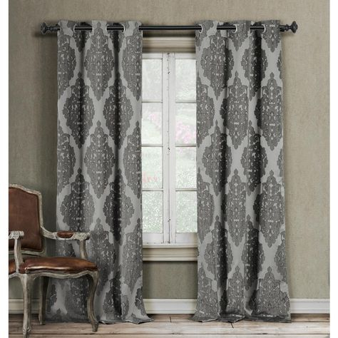 Bryton Paisley Synthetic Blackout Thermal Rod Pocket Single Intended For Vina Sheer Bird Single Curtain Panels (View 24 of 38)