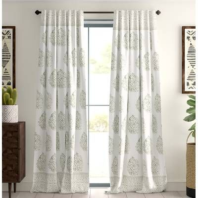 Bryton Paisley Synthetic Blackout Thermal Rod Pocket Single Intended For Vina Sheer Bird Single Curtain Panels (View 15 of 38)