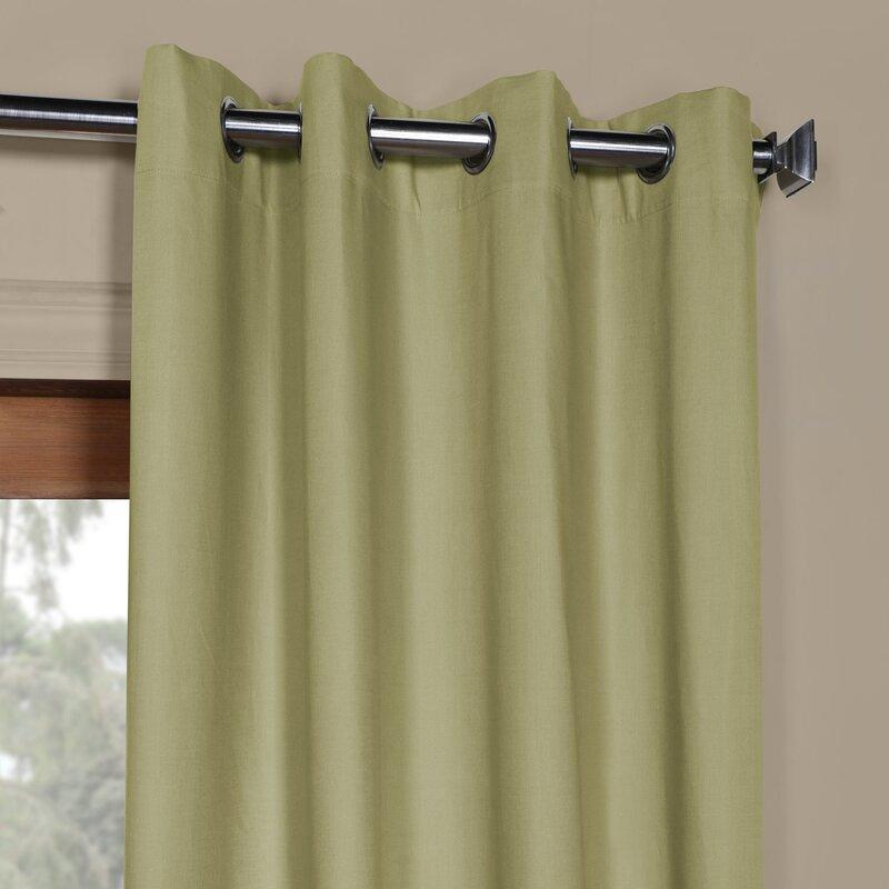 Bulah Solid Grommet Indoor Cotton Curtain Panel Pertaining To Solid Cotton Curtain Panels (#10 of 47)