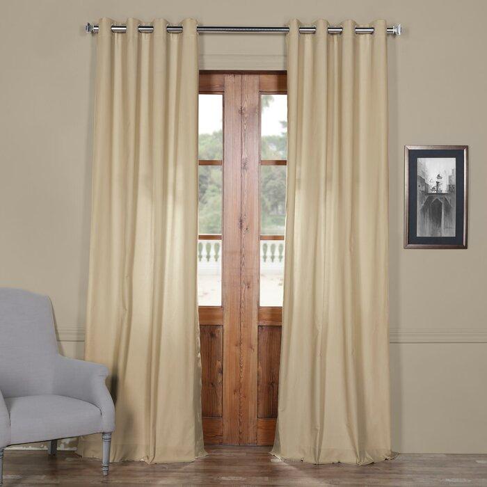 Bulah Solid Grommet Indoor Cotton Curtain Panel With Regard To Solid Cotton Curtain Panels (#11 of 47)