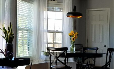 Bungalow Rose Buschwick Striped Sheer Rod Pocket Curtains With Regard To Montpellier Striped Linen Sheer Curtains (#9 of 50)
