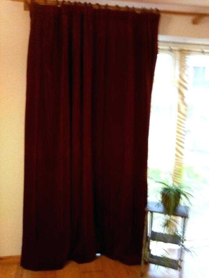 Burgundy Velvet Curtains – Bijouxl (#4 of 50)