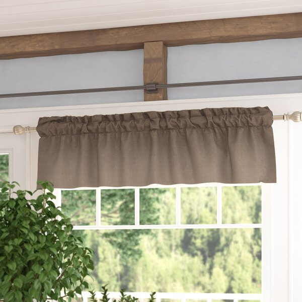 Burlap Window Treatments | Wayfair Throughout Classic Hotel Quality Water Resistant Fabric Curtains Set With Tiebacks (#3 of 50)
