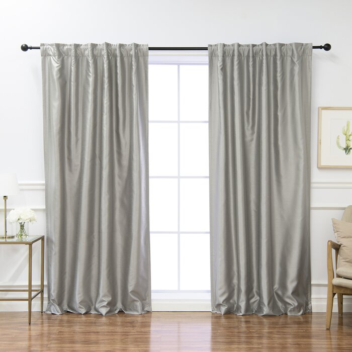 Burrowes Solid Blackout Thermal Rod Pocket Curtain Panels Throughout Luxury Collection Faux Leather Blackout Single Curtain Panels (View 5 of 42)