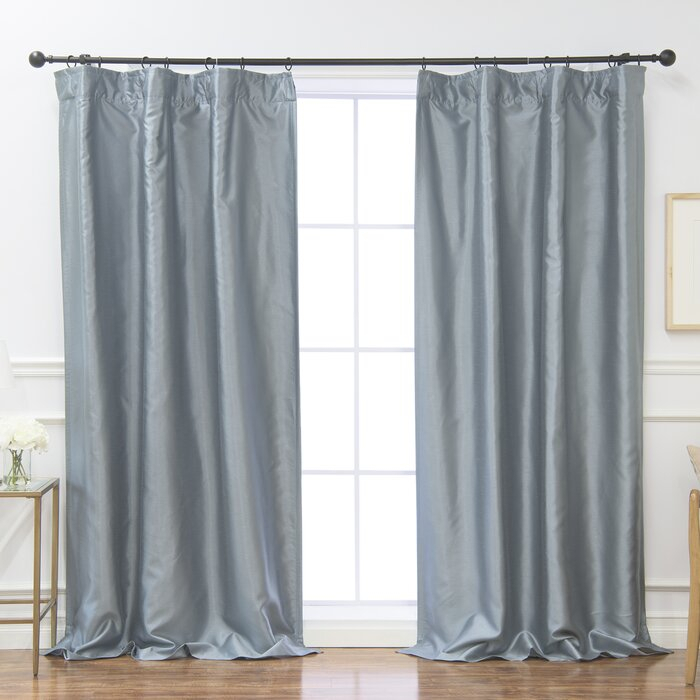 Burrowes Solid Blackout Thermal Rod Pocket Curtain Panels With Regard To Luxury Collection Faux Leather Blackout Single Curtain Panels (View 6 of 42)