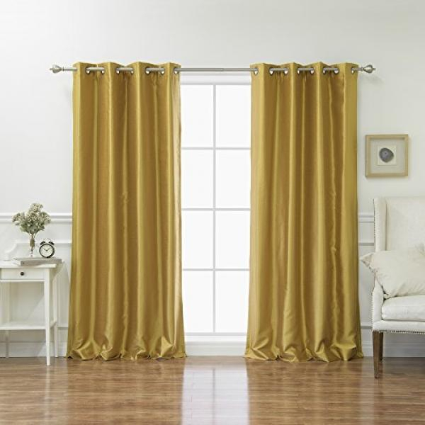 Buy Best Home Fashion Top Products Online At Best Price In Overseas Faux Silk Blackout Curtain Panel Pairs (#8 of 41)