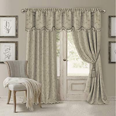 Buy Elrene Home Fashions 26865901450 Blackout Energy Throughout Elegant Comfort Luxury Penelopie Jacquard Window Curtain Panel Pairs (View 12 of 50)