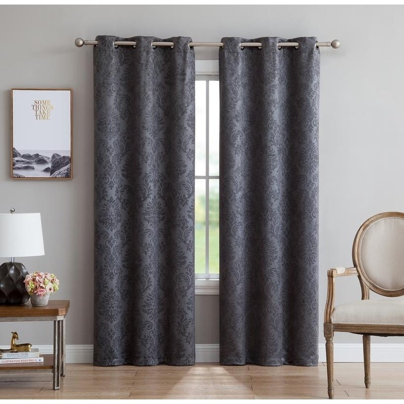 Popular Photo of Gracewood Hollow Tucakovic Energy Efficient Fabric Blackout Curtains
