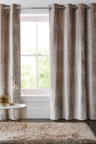 Buy Plush Velvet Eyelet Lined Heavyweight Curtains From Next Pertaining To Heritage Plush Velvet Curtains (View 5 of 50)