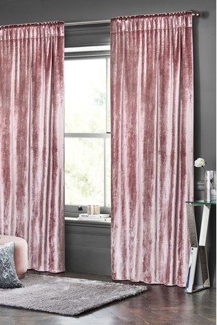Buy Plush Velvet Pencil Pleat Lined Heavyweight Curtains Regarding Heritage Plush Velvet Curtains (View 6 of 50)