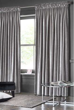 Buy Plush Velvet Pencil Pleat Lined Heavyweight Curtains With Regard To Heritage Plush Velvet Curtains (View 7 of 50)